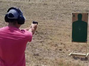 Handgun shoot frame
