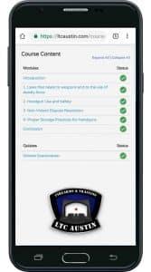 LTC Austin Online LTC Class on Smartphone